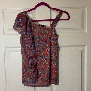 NWT | Cable & Gauge | One Shoulder Floral Top